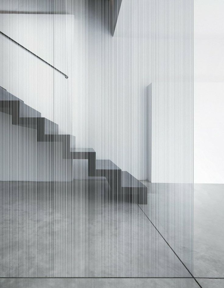 Satin-finished and acid-etched #glass STRIP MATÉ DOUBLE FACE by Vitrealspecchi #staircase