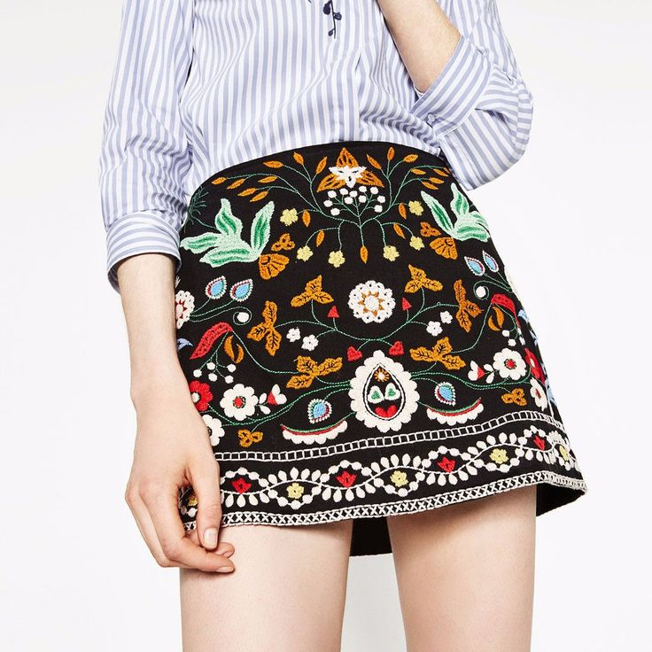 Bella Embroidery Skirt