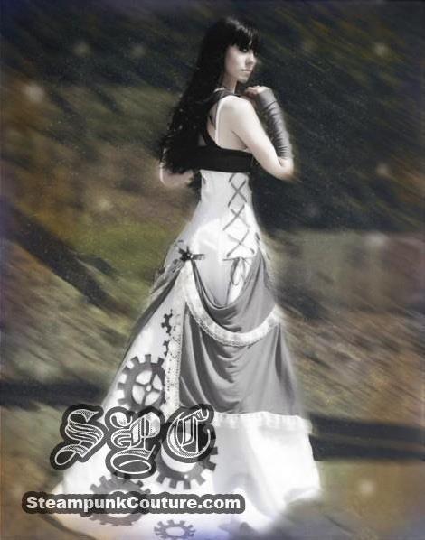 Стим панк платье свадебное