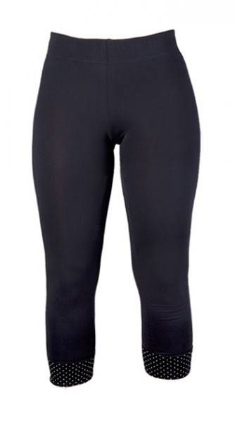Leggings in cotton-jersey http://www.ecouture.dk/leggings-black.html?___store=gb&___from_store=gb The legging is made from organic cotton-jersey: 95% organic cotton/ 5% elastan. It has a wide fold at the bottom of the legs with fine dotted edges. Ecouture's legging has a 5 cm. wide elastic band in the waist, which makes it very flexible. The legging has a great fit and is very comfortable to wear – a nice everyday legging with a classic Ecouture-twist.