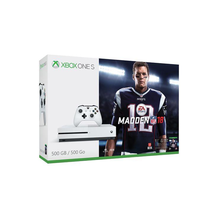 Xbox One S 500GB Madden NFL 18 Bundle, White