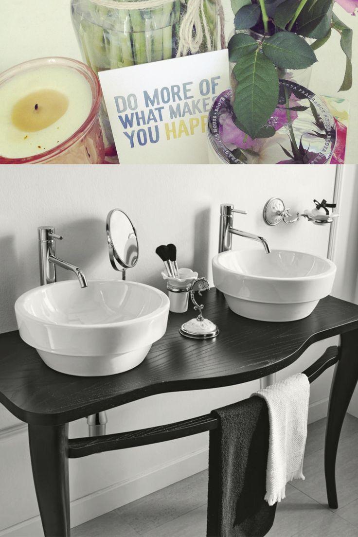oltre 25 fantastiche idee su doppio lavabo su pinterest   doppi ... - Sospesi Vanita Nero