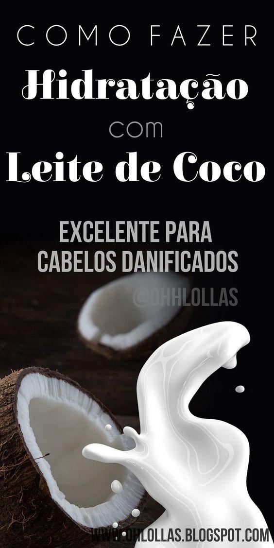 Hidratação com leite de coco