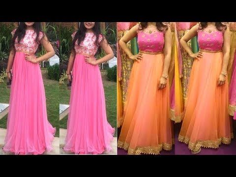 d89a851aa9c Simple Anarkali Gown Designs 2018