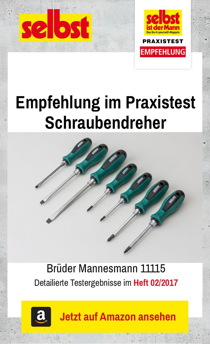 Die Schraubendreher Brüder Mannesmann 11115 sind Testsieger im Praxistest Schraubendreher. Wir haben 13 Sets getestet.