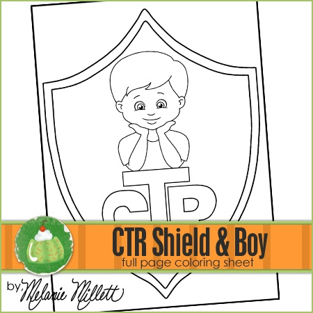 Ctr shield boy printable coloring page church stuff for Ctr coloring page