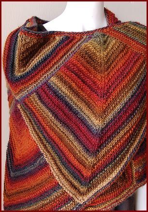 Mochi Plus Mitered Shawl - Crystal Palace Yarns - free knit shawl pattern