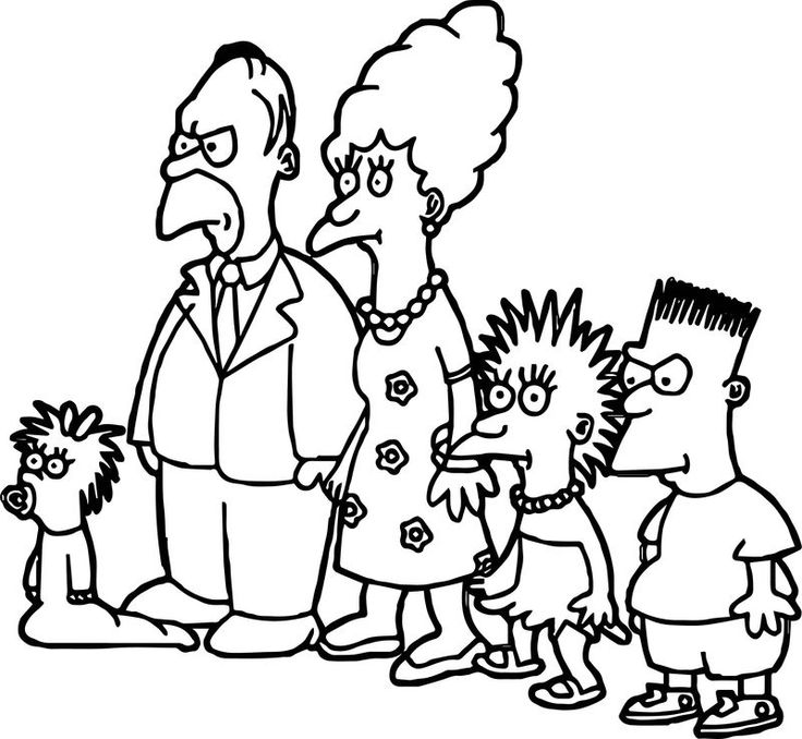 Simpsons On Tracey Ullman Coloring Page Dinosaur Coloring Pages