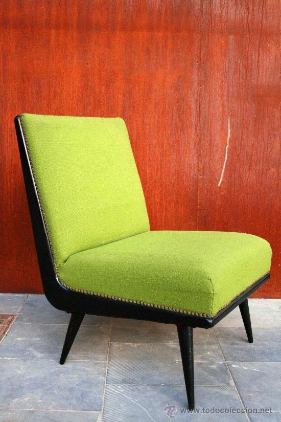 Butaca de los 50 en verde pistacho home shopping - Sofa verde pistacho ...