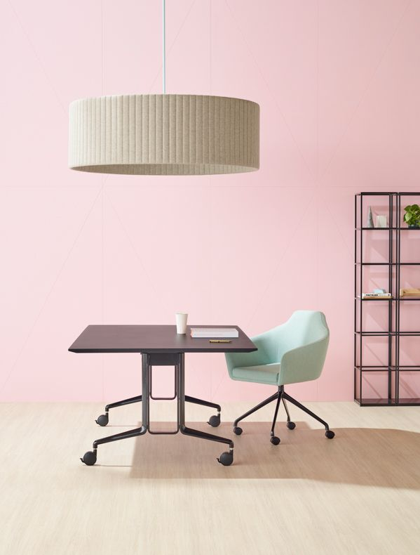 Aire fold table | Palomino chair | Vertical Garden | Baffle light | Schiavello.