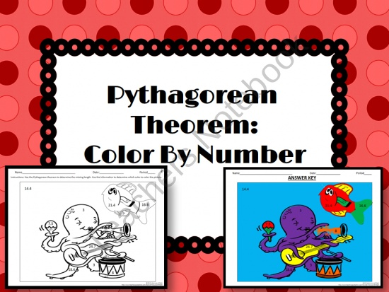 pythagorean theorem coloring activity pages-#13