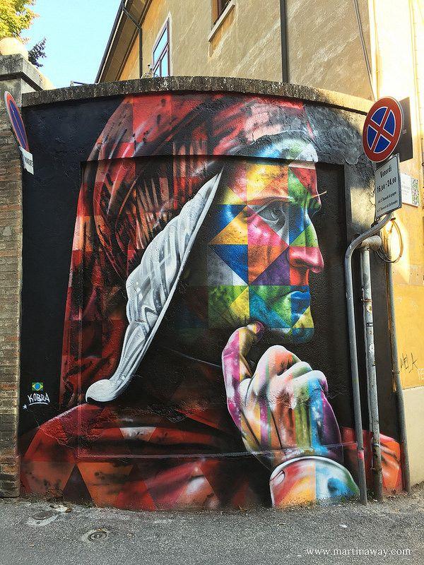 Street art by Kobra - Street art Ravenna (Italia)