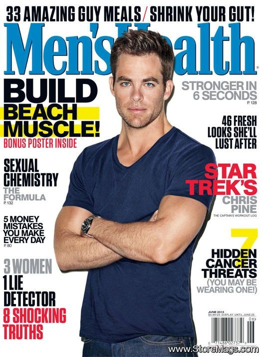 Chris Pine - Men's Health Magazine Cover [United States] (June 2013)