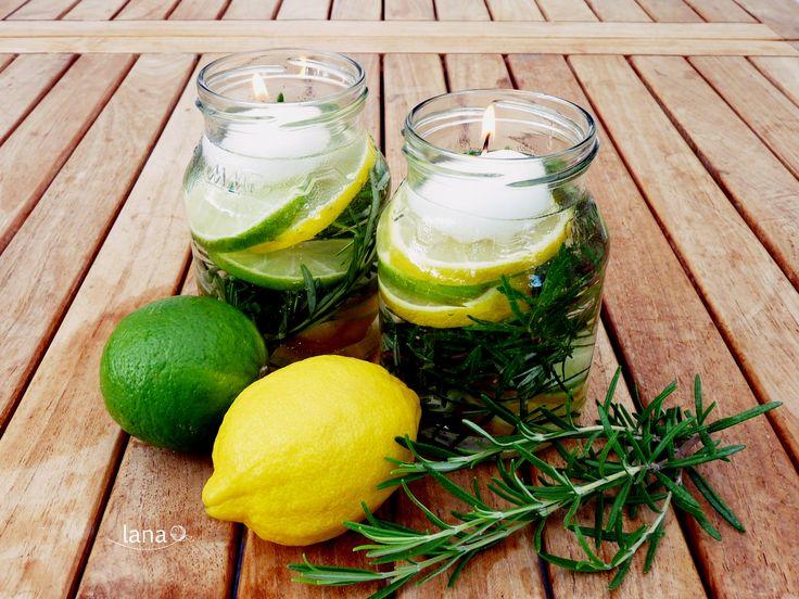 Sviečka proti komárom /Mason jar repellent candles - free tutorial