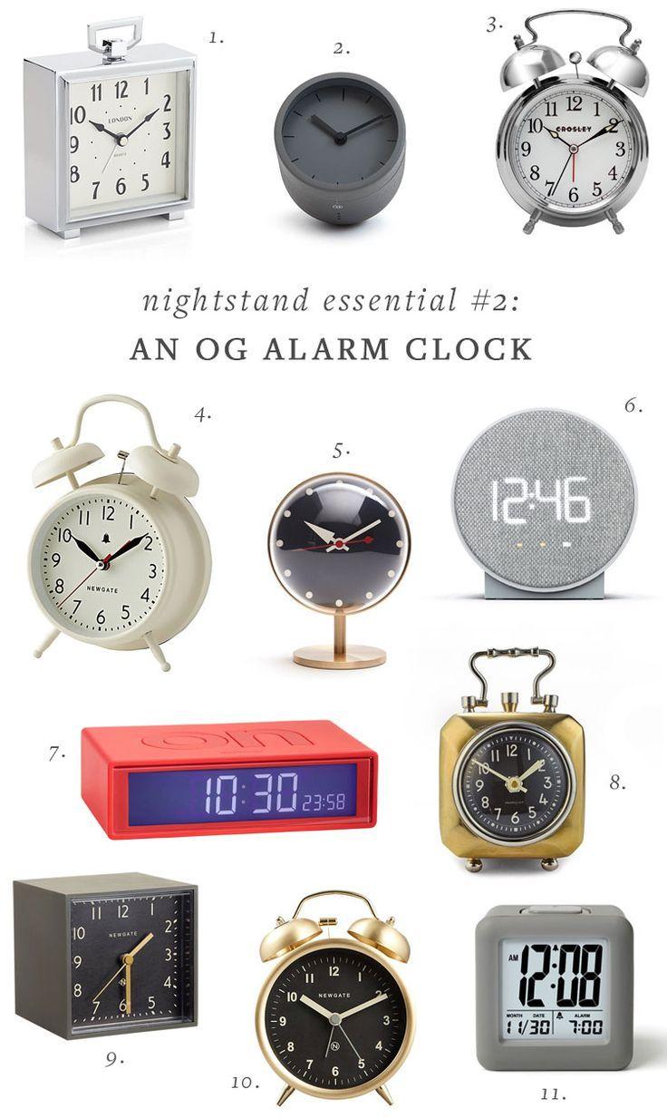 My 5 Nightstand Essentials Cute Alarm Clock Nightstand