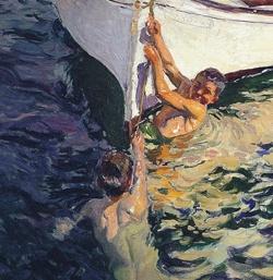 El bote blanco-1905-Sorolla.