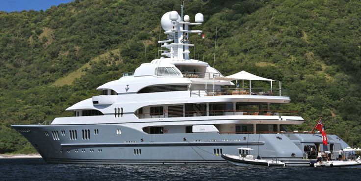 This 255-foot yacht can be yours for about $103 million while chartering TV for a week will only set you back about $954,000.