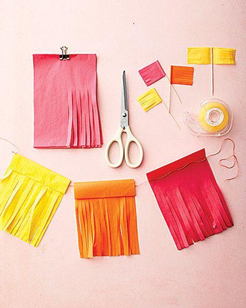 DIY Inexpensive Tissue Paper Cinco de Mayo Decorations