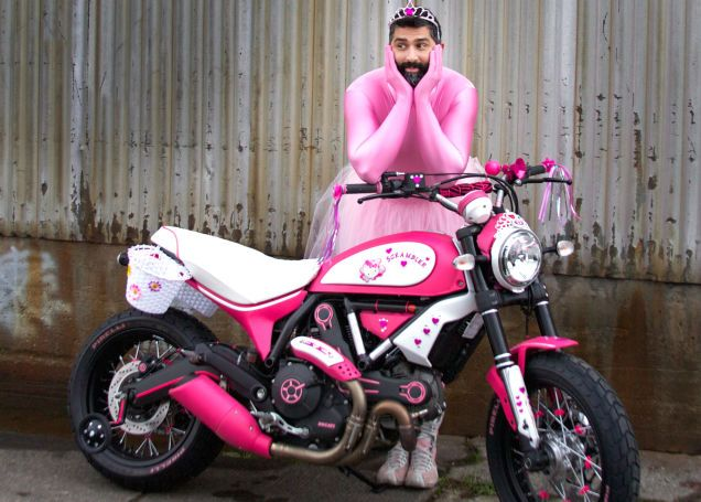 You've Never Seen A Custom Bike Like This Hello Kitty-Themed Scrambler