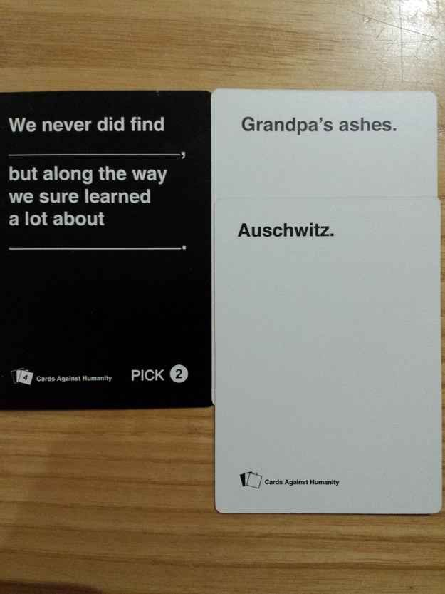 Funny Cards Against Humanity Meme : The worst cards against humanity to play around
