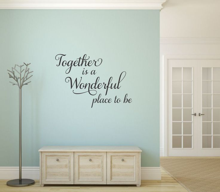Together Is A Wonderful Place To Be Wall Decal Family Wall Decal Family Wall Quote Family Wall Saying Family Vinyl Decal Family Wall Vinyl by RunWildVinylDesigns on Etsy