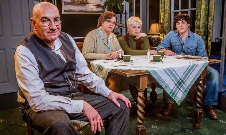 Simon Day as Alf Garnett, Lizzie Roper as Else, Sydney Rae White as Rita and…