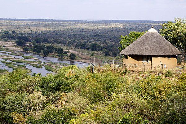 A rondavel in Olifants Rest Camp, Olifants River, Kruger National Park