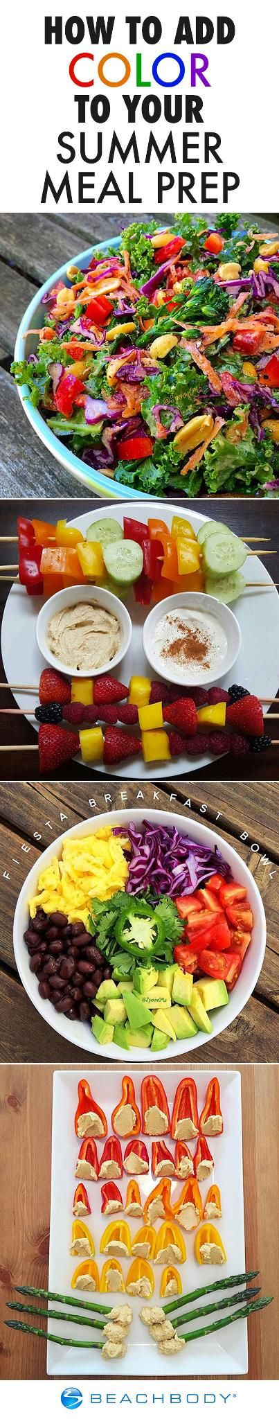 Food is more fun in color! Get inspired to brighten up your summer meals with these beautiful examples. // meal prep // meal prep ideas // summer food // nutrition // 21 day fix // healthy eating // meal planning // Beachbody // BeachbodyBlog.com