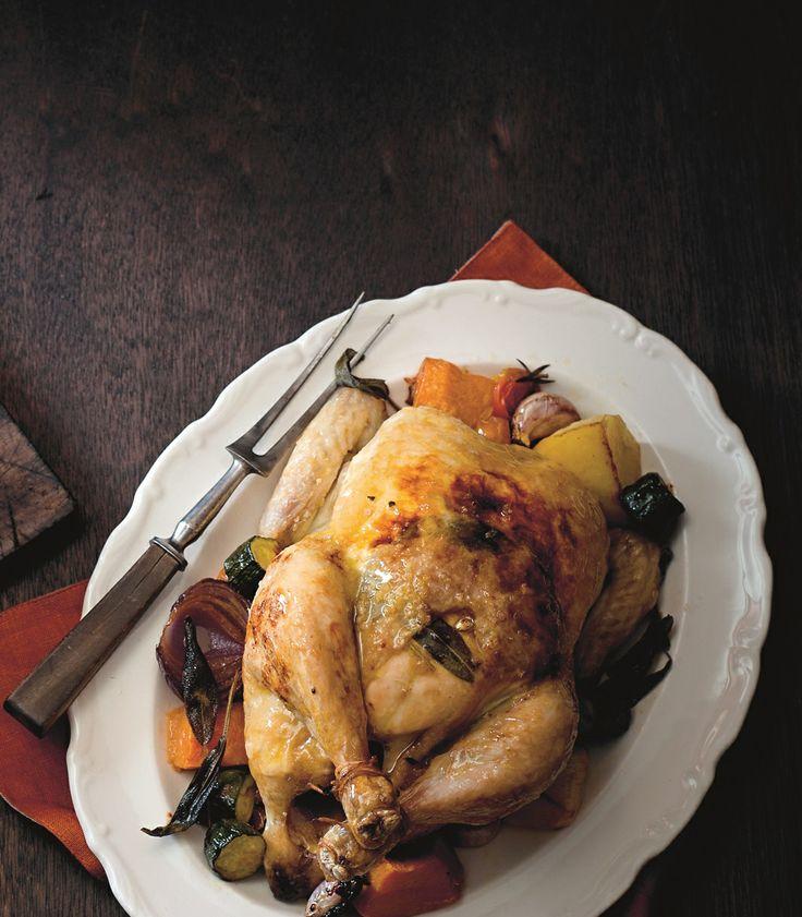 Simple roast chicken, the Stefano way by Stefano de Pieri   Cooked