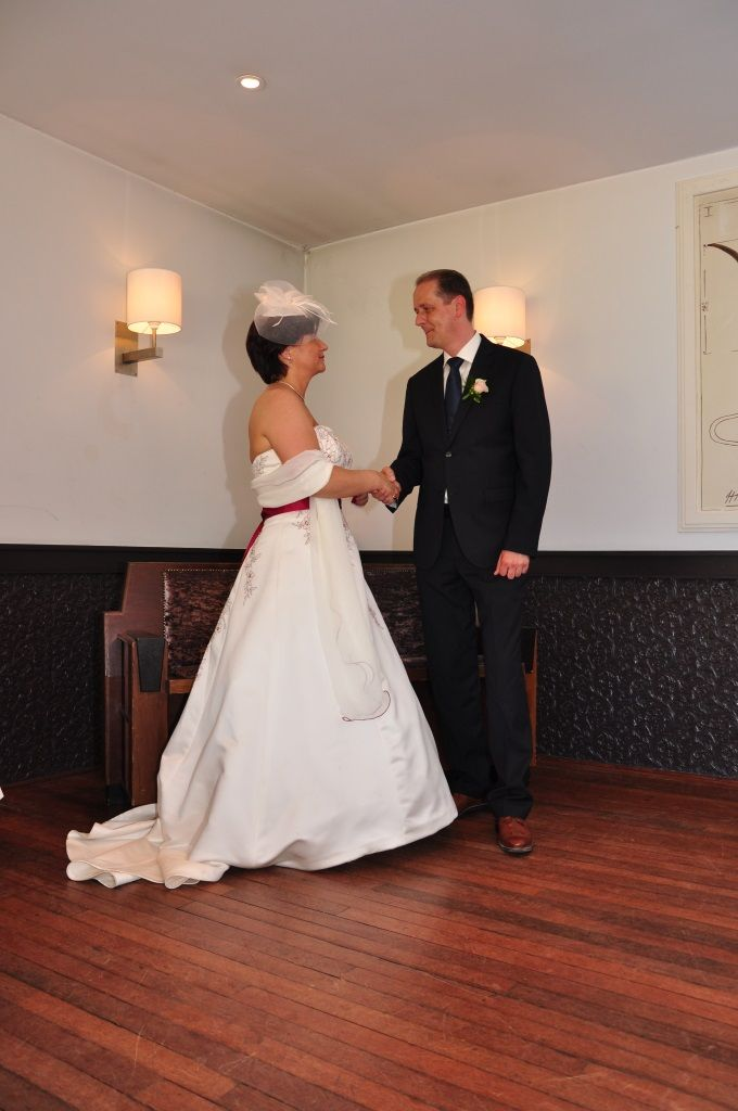 Het ja-woord @ Bruiloft Mike & Ingrid Perquin bij Brasserie Berlage