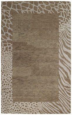 multi bordered animal print rug
