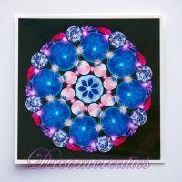 Meditatiekaart Crystal Earth 9 x 9 cm - www.droomcreaties.nl