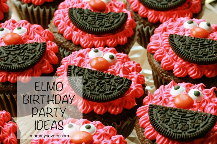 Frugal Elmo Birthday Party Ideas #elmo @Michelle Richards Just need red icing, oreos, googley eyes  mms
