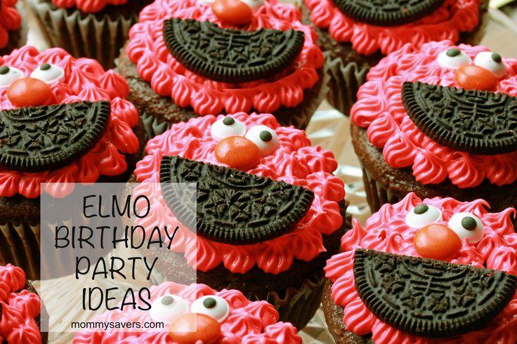 Frugal Elmo Birthday Party Ideas #elmo @Michelle Flynn Richards Just need red icing, oreos, googley eyes & m&ms