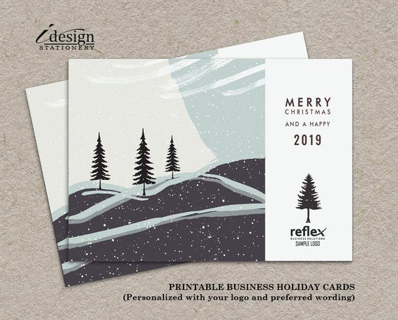 Business Holiday Cards Printable