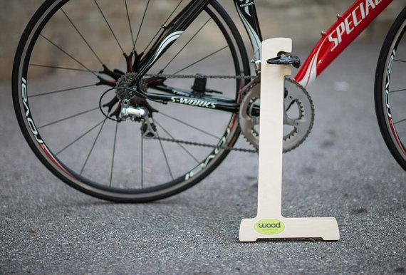 Wood Bike Stand by bikeffects on Etsy