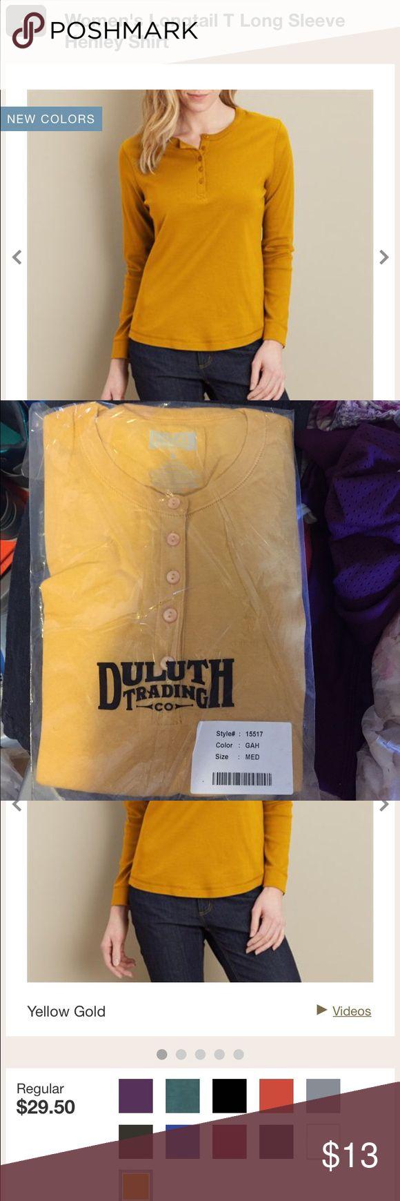 Women's Longtail T Long Sleeve Henley Shirt Duluth Trading Company Woman's Longtail T Long Sleeve Henley Shirt, new , still in the packing wrap Duluth Trading Co Tops Tees - Long Sleeve