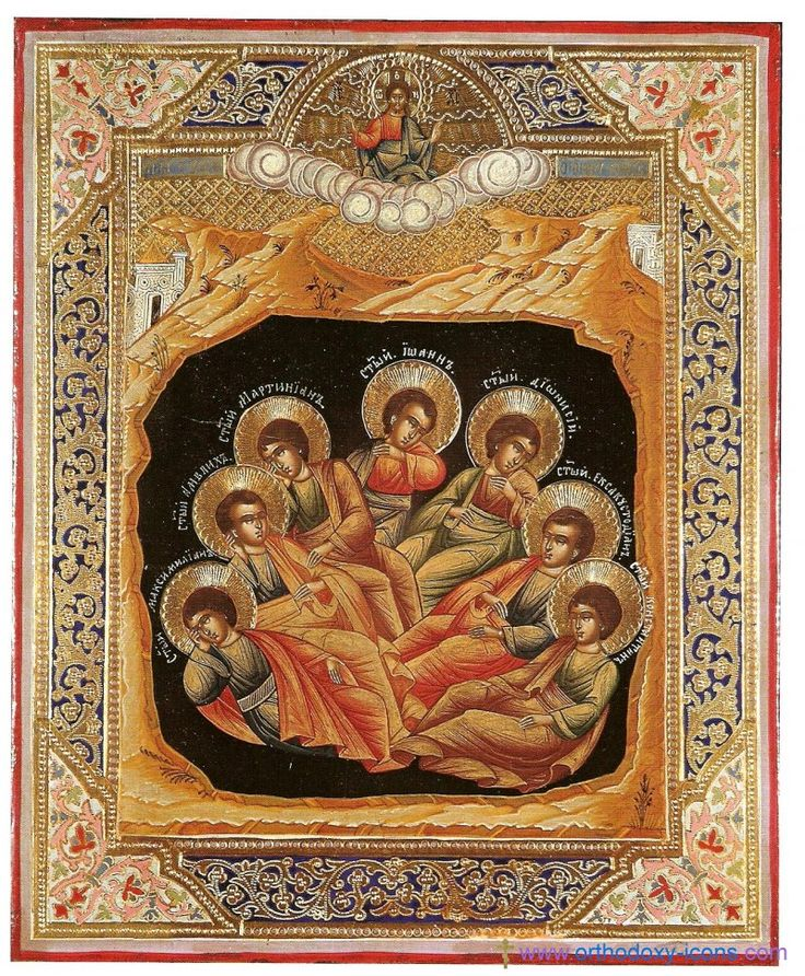 Seven sleepers of Ephesus youths (Nikolai and Ivan Klykova)