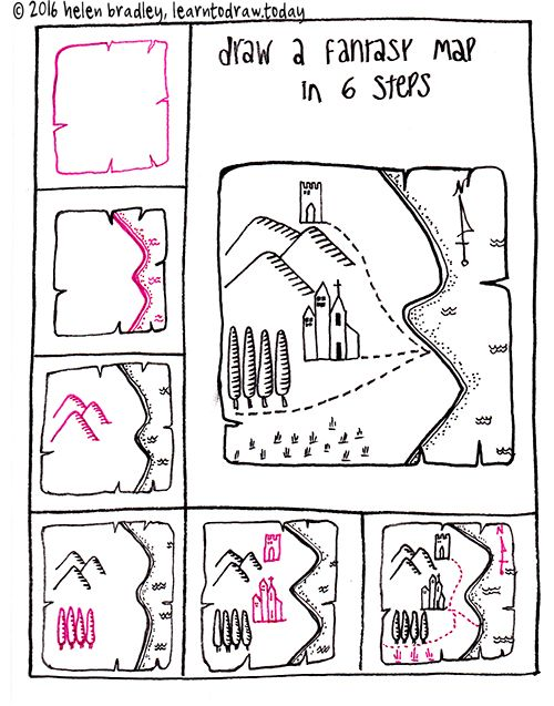 draw a fantasy map in 6 steps