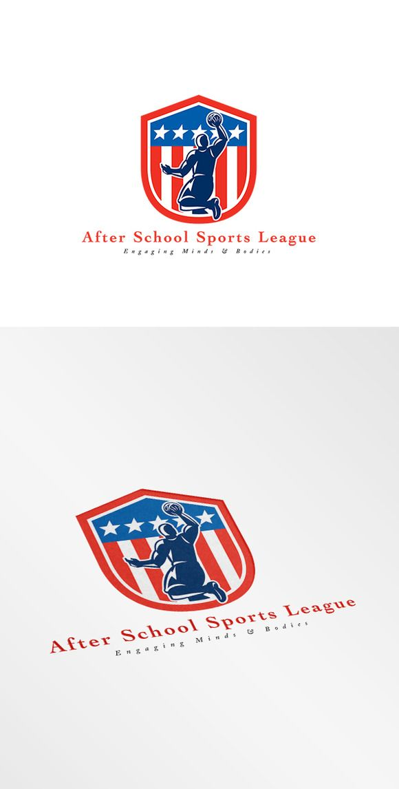 Check out After School Basketball League Logo by patrimonio on Creative Market