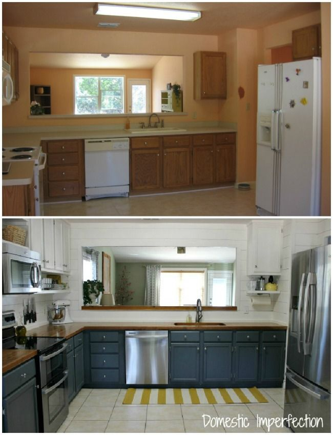 Farmhouse Kitchen On A Budget U2013 The Reveal. Kitchens With Painted CabinetsBlue  ...