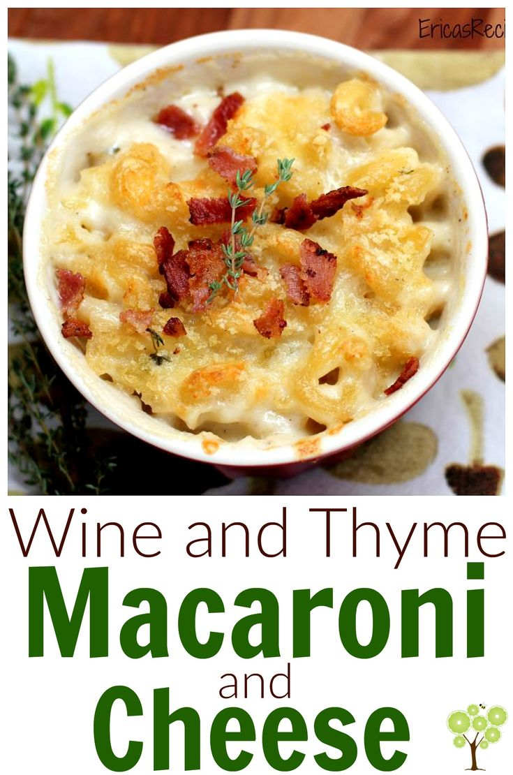 Wine and Thyme Macaroni and Cheese | Recipe | Cheddar ...