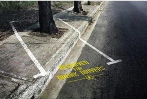Parking place for drunk drivers