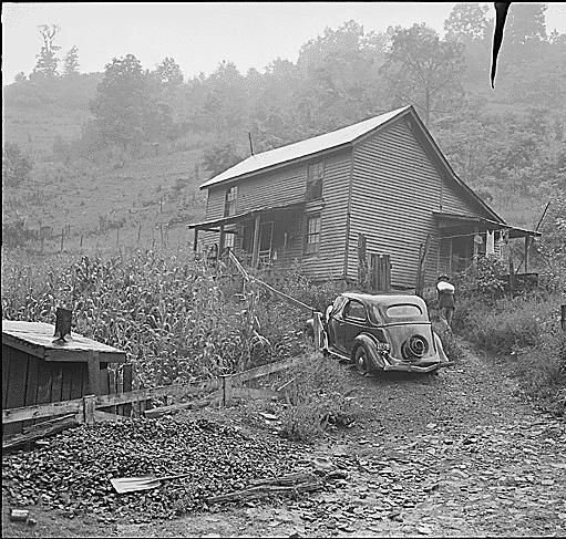Miner's house. Raven Red Ash Coal Company, No. 2 Mine, Raven, Tazewell County, Virginia., 08/19/1946. National Archives.