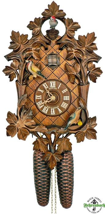 8-Day Traditional Cuckoo Clock with Moving Birds - Schneider