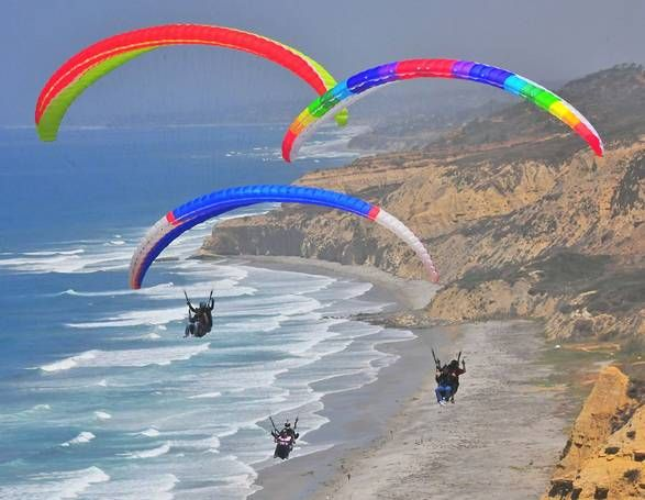 Hang Glide from Torrey Pines (La Jolla) Gliderport. View Black's Beach (infamous for nudity) from the air.