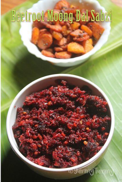 Beetroot Moong Dal Sabzi Recipe - Yummy Tummy