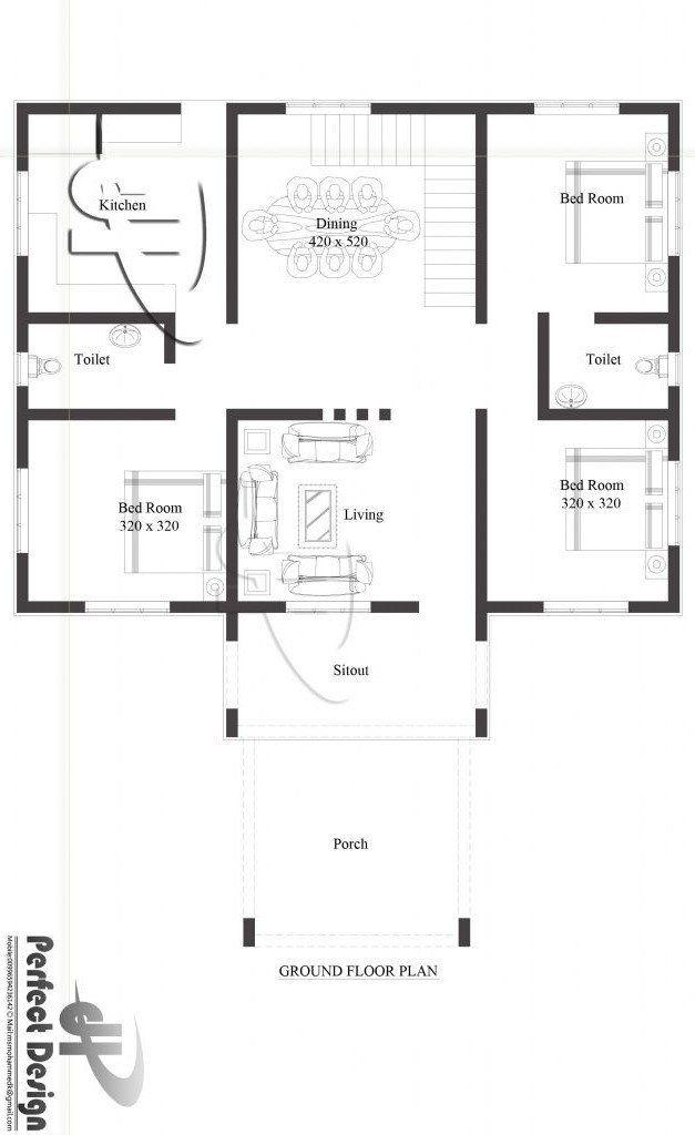Modern House Ground Floor Plan 1110 Square Feet 3 Bedroom Single Floor Modern House And In 2020 Modern House Floor Plans House Plans House Plans 3 Bedroom