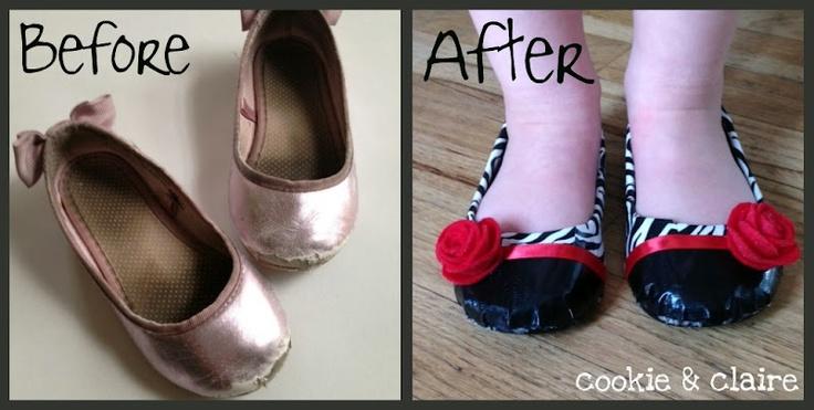 Shoe Re-Fashion using Duct tape!