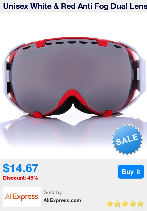 Unisex White & Red Anti Fog Dual Lens Snowboard Ski Goggle Protective Sunglass Eyewear * Pub Date: 03:42 Apr 3 2017